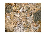 Wild Cat-Spread, 1992 Giclee Print by  Ditz