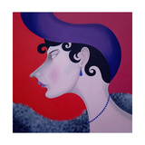 Women in Profile Series, No. 13, 1998 Giclee Print by John Wright
