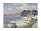 Summer Morning in Budleigh Salterton, 1989 Giclee Print by Trevor Chamberlain