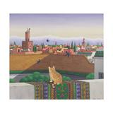 Rooftops in Marrakesh, 1989 Giclée-tryk af Larry Smart