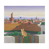 Rooftops in Marrakesh, 1989 Giclee Print by Larry Smart