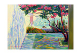 Cat in a Mexican Garden Giclee Print by Robert Tyndall