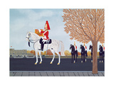The Trumpeter Outside Buckingham Palace Giclee Print by Vincent Haddelsey