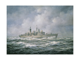 "H.M.S. ""Exeter"" at Sea, 1990 Giclee Print by Richard Willis"