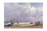 Threatening Storm in the Solent, 1989 Giclee Print by Trevor Chamberlain