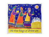 We Three Kings of Orient Are Giclee Print by Cathy Baxter