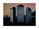 Scottish Towers, 1984 Giclee Print by Lucy Raverat
