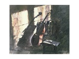Cello in Sunlight Giclee Print by John Lidzey