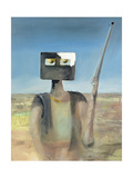 Ned Kelly, (1855-80) Outlaw Giclee Print by Sir Sidney Nolan
