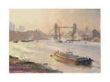 Autumn Afternoon, Pool of London, 1991 Giclee Print by Trevor Chamberlain
