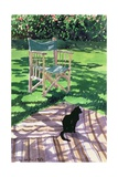 Black Cat and Dappling, 1986 Giclee Print by Lucy Willis