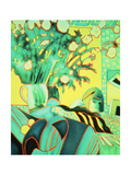 The Artist Reflected Giclee Print by Lillian Delevoryas