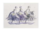 Three Kings Dancing a Jig Giclee Print by Joanna Logan