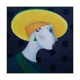 Women in Profile Series, No. 18, 1998 Giclee Print by John Wright