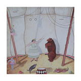 Lady with Dancing Bear, 1980 Giclee Print by Mary Stuart