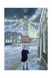 A December Dusk at Tredegar, 1992 Giclee Print by Huw S. Parsons