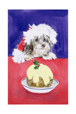 The Christmas Pudding Giclee Print by Diane Matthes