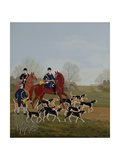 Hunt at Chantilly Giclee Print by Vincent Haddelsey