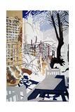 Stark Winter Back-Garden, 1993 Giclee Print by Miles Thistlethwaite