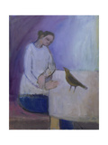 Woman with a Bird, 2003 Giclee Print by Sue Jamieson
