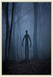 Slender Man In Woods Posters