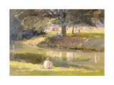 High Summer, Castle Grounds, Hertford, 1988 Giclee Print by Trevor Chamberlain