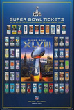Super Bowl XLVIII Tickets Prints