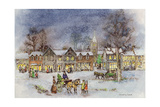 Village Street in the Snow Giclee Print by Stanley Cooke
