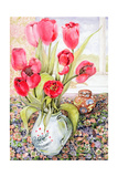 Tulips in a Rye Jug Giclee Print by Joan Thewsey