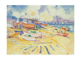 Fishing Boat Beach Giclee Print by Elizabeth Jane Lloyd
