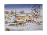 Christmas Eve in the Village Giclee Print by Stanley Cooke