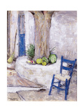 Blue Chair by the Tree, 1993 Giclee Print by Diana Schofield