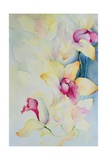 Orchid, Cymbidium, Prince Charles Giclee Print by Karen Armitage