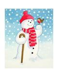Snowman's Friend Giclee Print by Lavinia Hamer