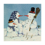 The Snowman Family, 1997 Giclee Print by Christian Kaempf