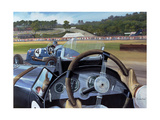 Brooklands - from the Hot Seat Giclee Print by Richard Wheatland