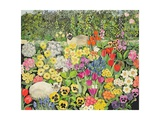 Spring Cats Giclee Print by Hilary Jones