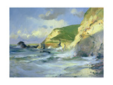Cliffs at St. Agnes Giclee Print by Trevor Chamberlain