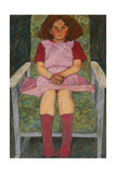 Girl in a Rocking Chair Giclee Print by Carol Walklin