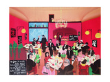 Cinema Stalia (Greek Restaurant) Giclee Print by Herbert Hofer