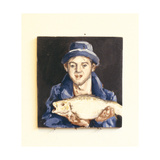 Fish-Boy Giclee Print by Robert Burkall Marsh
