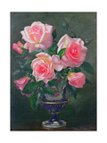 Still Life with Pink Roses in Vases Giclee Print by Albert Williams