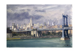 Manhattan Bridge, New York, 1996 Giclee Print by Julian Barrow