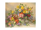Spring Flowers and Poole Pottery Lámina giclée por Albert Williams