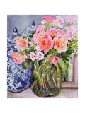 Still Life with Two Blue Ginger Jars Giclee Print by Joan Thewsey