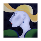 Women in Profile Series, No.19, 1998 Giclee Print by John Wright