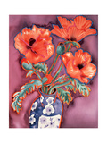 Poppies in Chinese Vase Giclee Print by Lillian Delevoryas