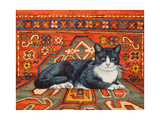 Second Carpet-Cat-Patch, 1992 Giclee Print by  Ditz
