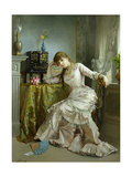 Portrait of a Young Woman Giclee Print by Agapit Stevens