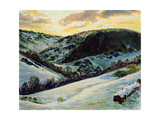 The Devil's Dyke in Winter, 1996 Giclee Print by Robert Tyndall